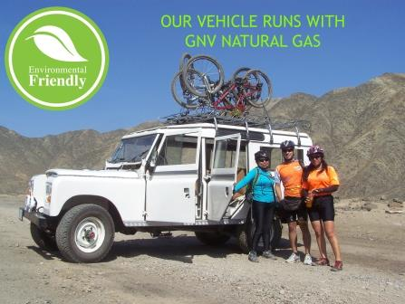 Peru Cycling Land Rover Natural Gas www.perucycling.com