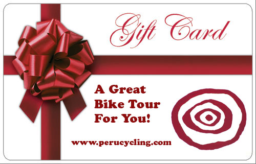 Perucycling Gift Card  www.perucycling.com